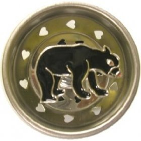 Black bear lodge kitchen sink strainer drain plug stopper home decor food strainers - Decorative kitchen sink strainers ...