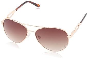 Steve Madden Women's S5467 Aviator Sunglasses,Gold,52 mm