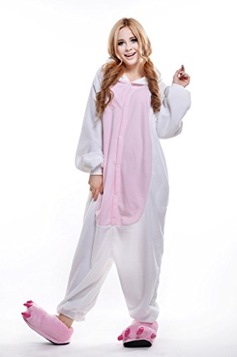 Moshine White Cat Christmas Carnival Costumes Anime Onesie Adults Kigurumi Pajamas Cosplay