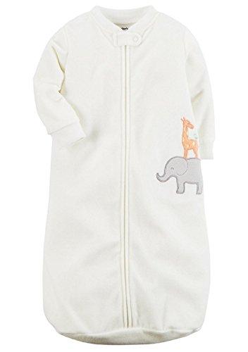 Carters One Piece Zoo Animals Micro Fleece Sleep Bag or Sack (0-9 Months)