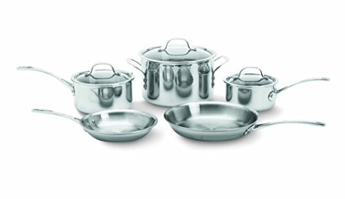 Calphalon Tri-Ply Stainless Steel 8-Piece Cookware Set (Calphalon 8 Stainless Steel compare prices)