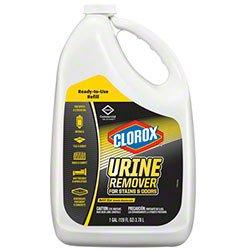 Clorox Urine Remover, Commercial-Strength Clorox 31351 Bathroom Cleaner, Blasts Nastiest Crud & Horrid Odors Faster (4/128oz/cs)