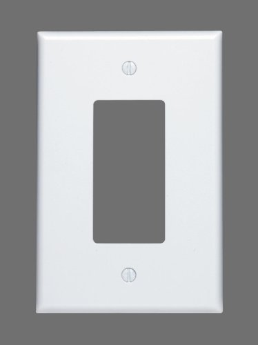 Leviton 88601 1-Gang Decora GFCI Device Decora, Wallplate, Oversized, Thermoset, Device Mount, White