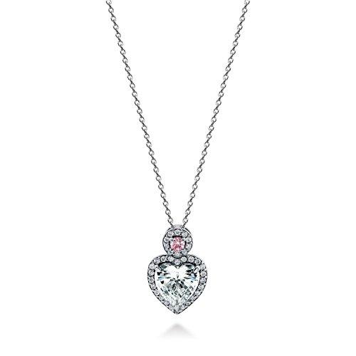 [ジュエリーキャッスル] Jewelry Castle ネックレス 1.71カラット ハートモチーフ パヴェ ペンダントネックレス CZダイヤモンド (キュービックジルコニア)