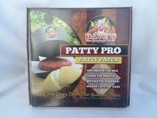 Dave's Patty Pro Patty Paper. Large 6x6 Wax Paper Sheets Used to Separate Raw Patties.