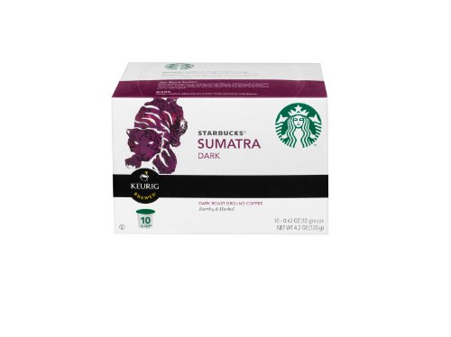 Starbucks Sumatra Dark Roast K Cups 10 Pack