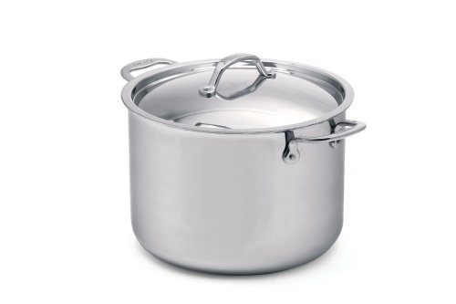 Cuisinox Elite 11-Quart Covered Stock Pot, Silver