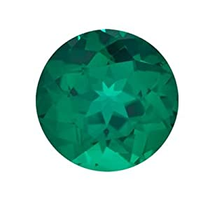 1.25 Cts of 7x7 mm AAA Round Russian Lab Created Emerald (1 pc) Loose Gemstone