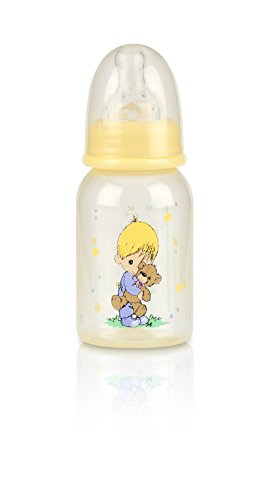 Nuby Printed Bottle, 4 Ounce, Yellow - 1