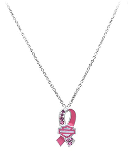 Harley-Davidson® MOD® Women's Pink Label Pink Ribbon Necklace HPN002
