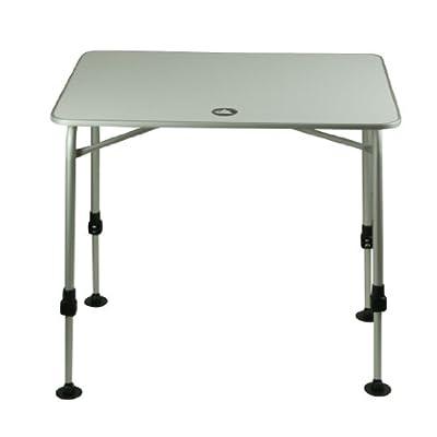 10T Flaprack Single - Camping Klapp-Tisch 80x60cm Aluminum stabile Tischplatte Telekopbeine stufenlos