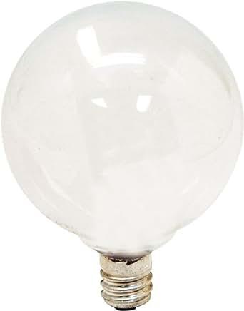 GE Lighting 44723 60-Watt 530-Lumen Candelabra Base G16.5 Globe Light Bulb, Soft White