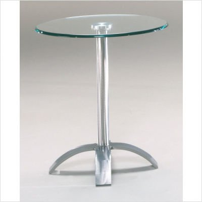Axis Contemporary End Table Metal Finish: Topaz