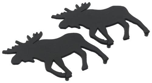 DII Moose Black Cast Iron Trivet Set of 2