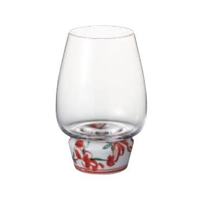 有田焼グラス HAJIMARI HF-11 福泉窯 赤絵錦剣先万歴 ゆらりんグラス Shake Glass φ 90 × h135㎜ 450cc