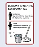 clean office bathroom etiquette signs