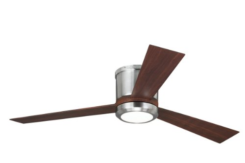 "Monte Carlo Fans 3Clyr52Bsd Clarity - 52"" Ceiling Fan, Brushed Steel Finish With Frosted Acrylic Glass"