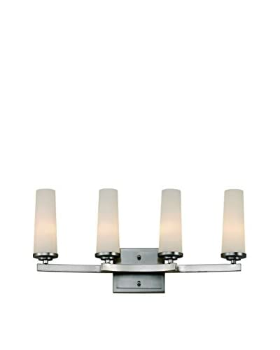 Bel Air Lighting Light Saber 4-Light Vanity, Satin Nickel