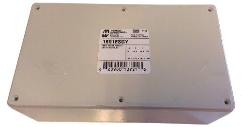 "Hammond 1591Esgy Grey Abs Plastic Project Box -- Inches (7.5"" X 4.3"" X 2.2"") Mm (190Mm X 109Mm X 58Mm)"