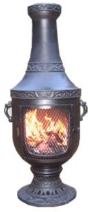 The-Blue-Rooster-Venetian-Chiminea-in-Charcoal-with-Gas-Kit-20-Hose