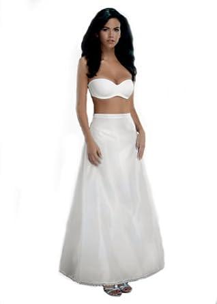 Merry Modes A-Line Slip Petticoat Crinoline 1368-Small-White at Amazon