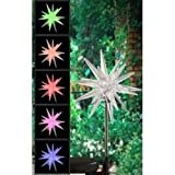 Encore H5123 Solar Powered Color Changing Starburst Garden Stake
