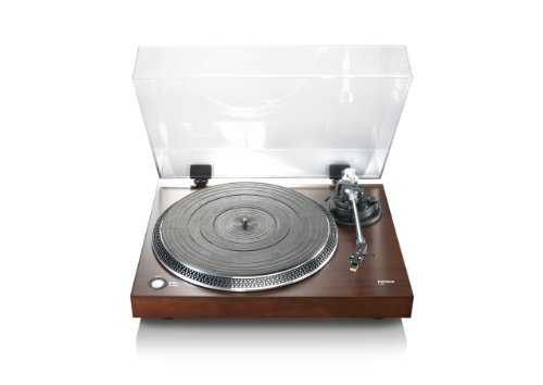 Lenco L-90 Wooden Turntable Walnut Veneer with USB Slot and Built-In Pre-Amplifier Black Friday & Cyber Monday 2014