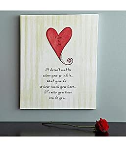 Personalized Heart Wedding Canvas Wall Art - Wedding-and-Engagement Gift