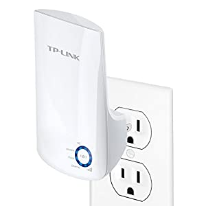 TP-LINK TL-WA850RE N300 Universal Wireless Range Extender, Wi-Fi Repeater, Wall Plug, Plug&Play, Ethernet Port, Smart Signal Indicator Light