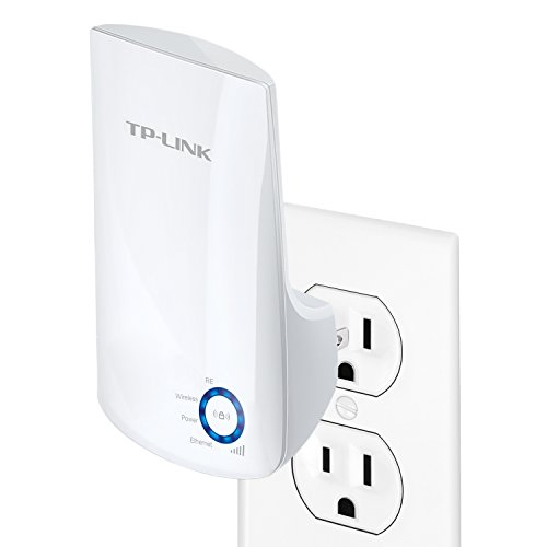 TP-LINK TL-WA850RE N300 Universal Wireless Range Extender, Wi-Fi Repeater, Wall Plug, Plug and Play, Ethernet Port, Smart Signal Indicator Light