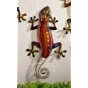 Amazon.com: Giftcraft Iron Glass Colorful Gecko Wall Decor Plaque ...