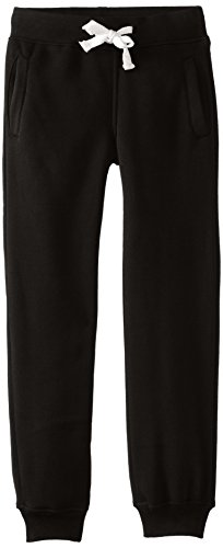 Southpole Big Boys' Boys Active Basic Jogger Fleece Pants, Black, Large