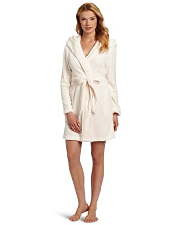 Dearfoams Women s Sherpa Lined Hooded Solid Robe 120883bea