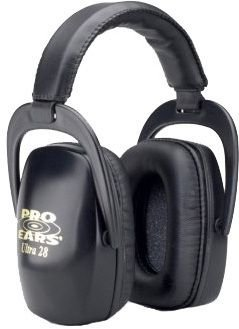 Pro-Ears Ultra Passive 28 Shooting Hearing Protection Headset - Black PE-28-U-B Black