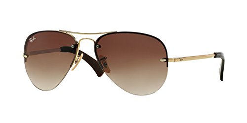 Ray-Ban Highstreet Brown Gold Sunglasses RB 3449 001/51 59mm + SD Glasses + Kit
