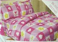 Kids Bedding - Hearts N Flowers Checkerboard Bedding Set - Micro Fiber Comforter with Sham