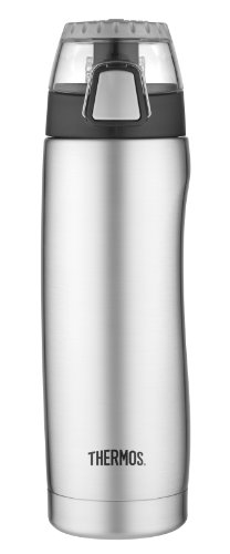 Thermos Vacuum Insulated 18 Ounce Hydration Bottle, Stainless Steel front-1065357