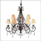 World Imports Lighting 753-62 Berkeley Square 9-Light Chandelier, Weathered Bronze