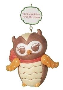 Baby's First Christmas Owl Holiday Christmas Ornament