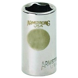 Armstrong 10-016 1/4-Inch Drive 6 Point Standard Socket, 1/2-Inch
