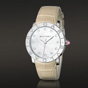 Bvlgari Ladies Mother of Pearl Diamond Automatic Watch BBL33WSL/12