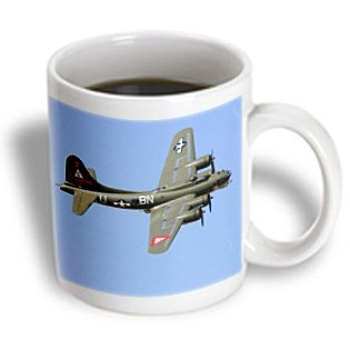 3dRose Photo of B-17 Flying Fortress Ceramic Mug, 15-Ounce