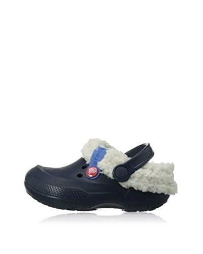 crocs Blitzen II Clog K - Zuecos de material sintético infantil, color azul, talla 27/28