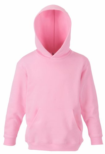 Fruit of the Loom Kid's Hooded Sweat Light Pink 7-8 Yrs