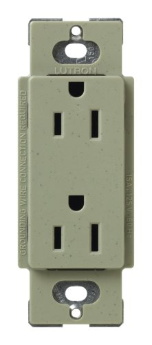 Lutron Scr-15-Gb Satin Colors 15A Electrical Socket Duplex Receptacle, Greenbriar
