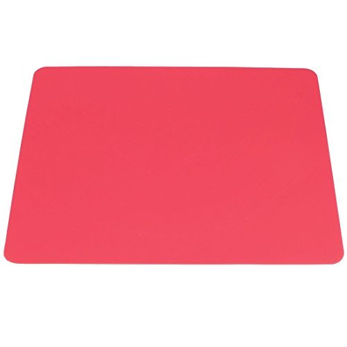 Silicone antidérapant Rectangle ordinateur de bureau Tapis de souris Pad, Red (a14031900ux0211)