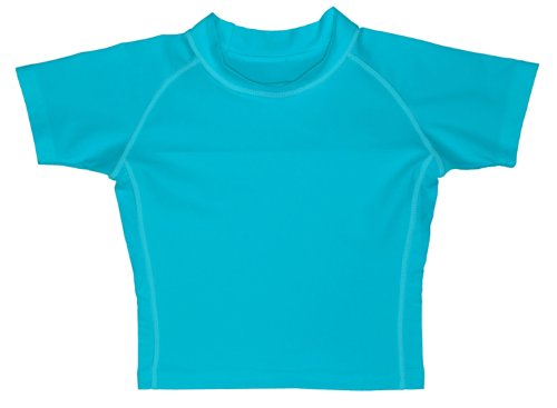 I Play. Baby-Boys Infant Short Sleeve Rashguard,18 Months,Aqua front-990859