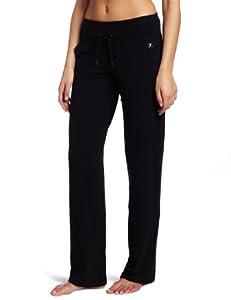 Danskin Women's Drawcord Pant, Black, Medium