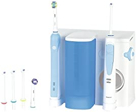 Oral-B Waterjet + 500 - Pack dental con cepillo de dientes recargable e irrigador Professional Care