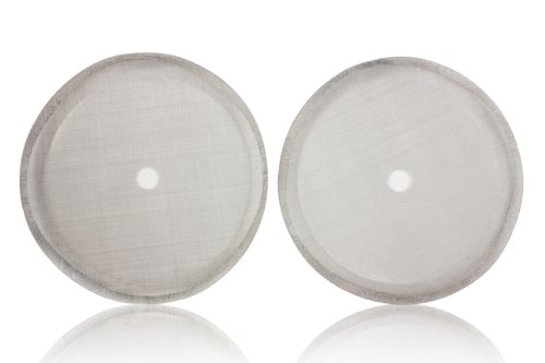 Coffee Press Replacement Screen Parts, 2 Pack Universal 8-Cup Stainless Steel Reusable Filter (Kona French Press Parts compare prices)